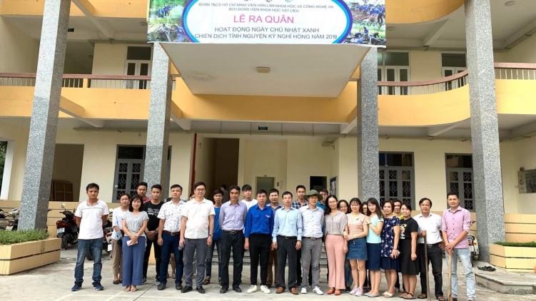 Đoàn thanh niên Viện khoa học vật liệu tổ chức lễ ra quân chiến dịch tình nguyện