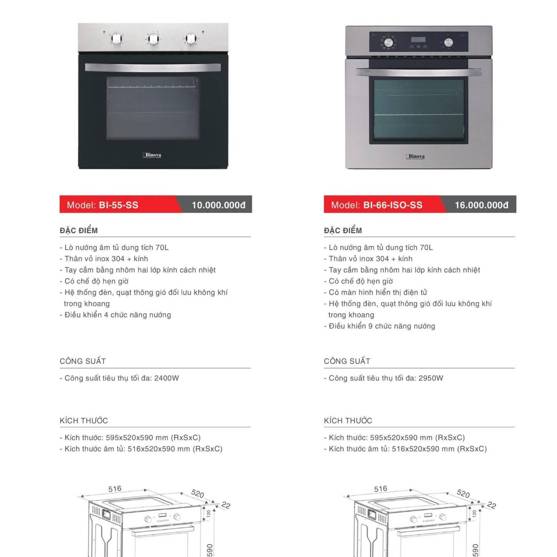 Lò nướng âm tủ model: BI-55-SS và BI-66-ISO-SS