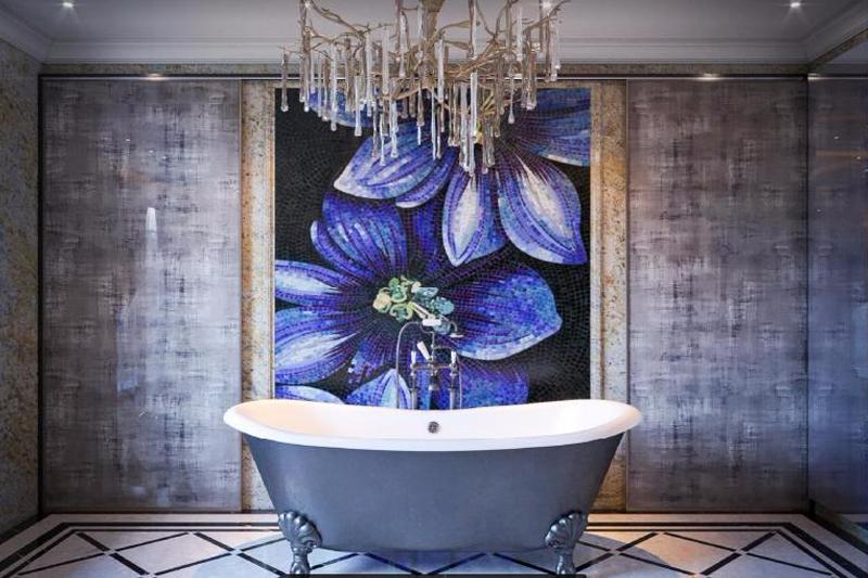 Gạch mosaic trong nhà vệ sinh-mang lại vẻ đẹp tinh tế