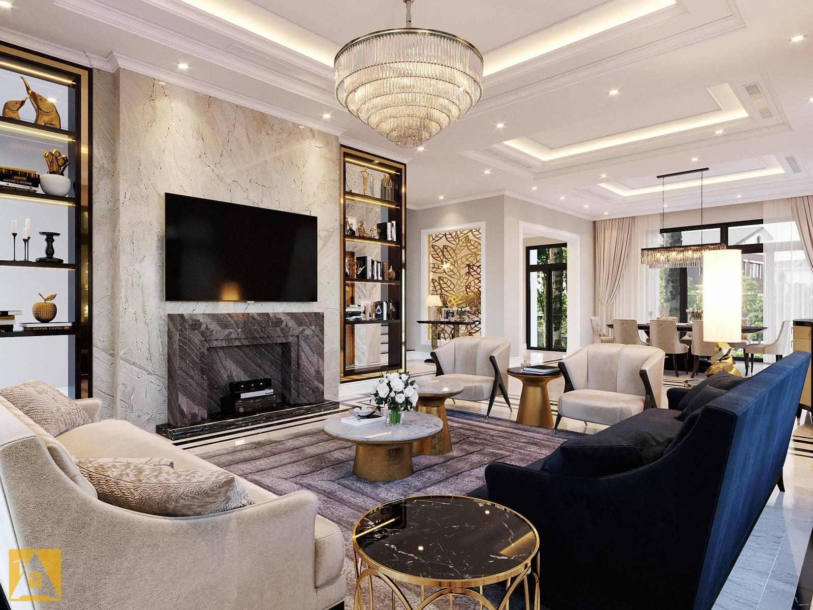 Biệt thự thiết kế phong cách nội thất luxury tinh tế