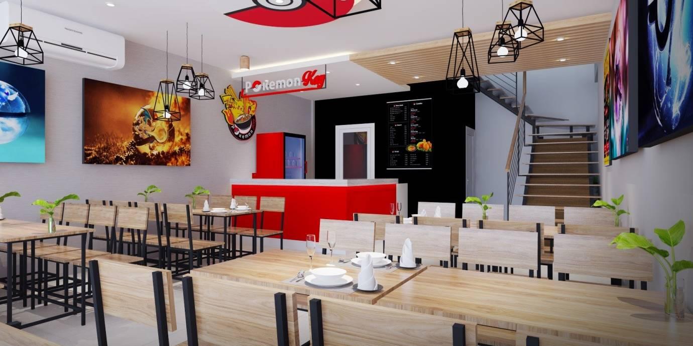 Dự án thiết kế nội thất nhà hàng Pokemon