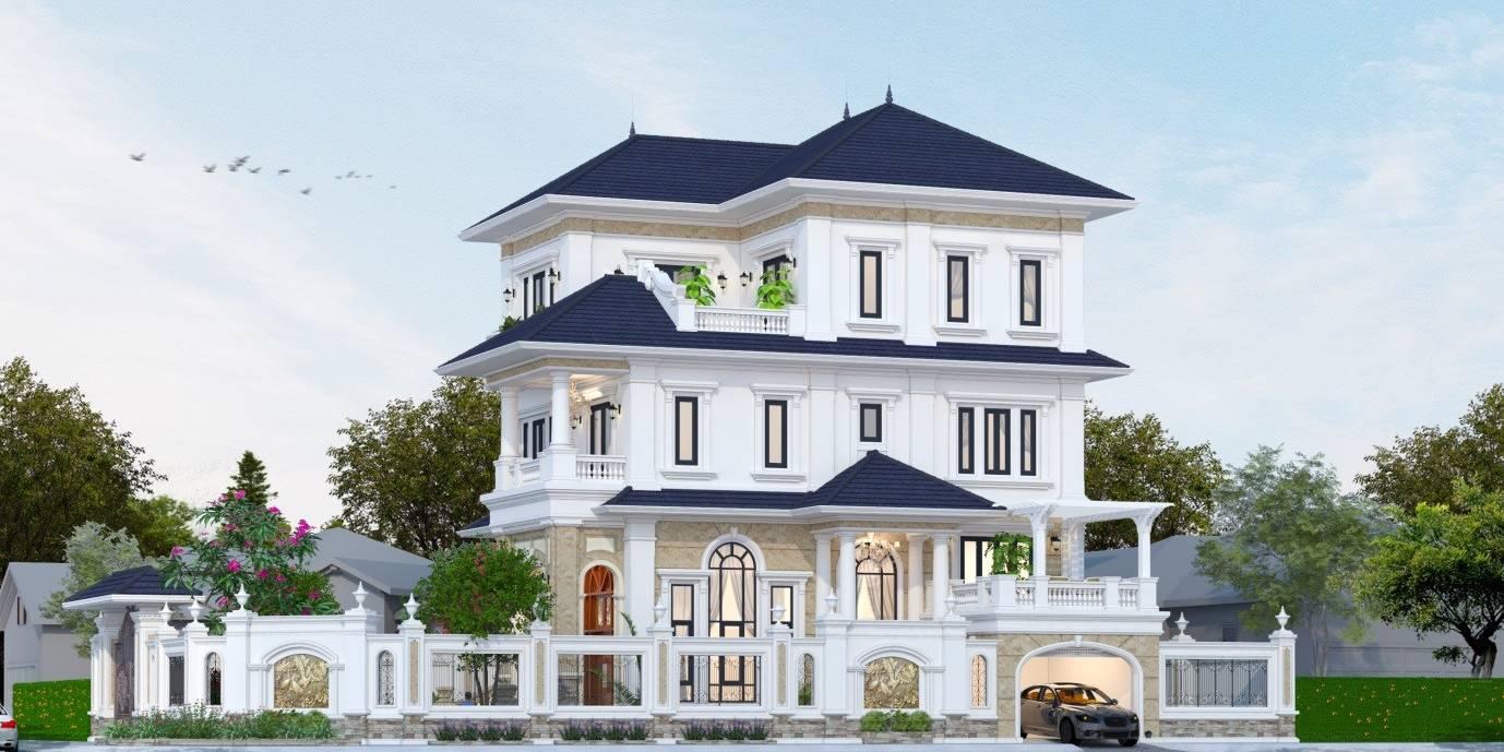 Dự án thiết kế biệt thự 3 tầng mái thái