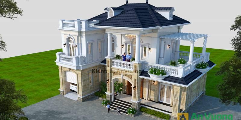 Mẫu thiết kế biệt thự tân cổ điển tại Thái Nguyên