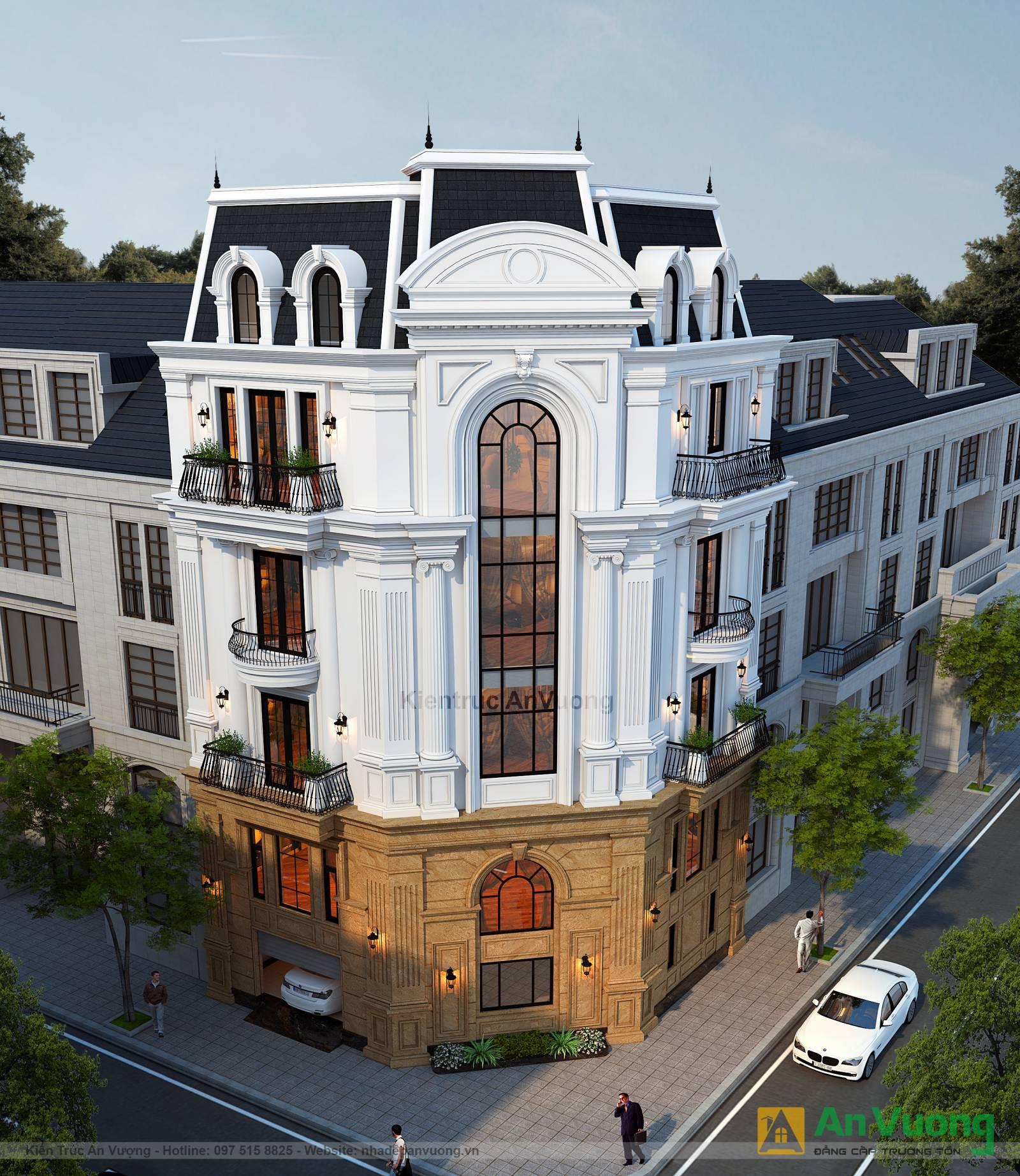 Mẫu thiết kế cải tạo biệt thự 5 tầng kiến trúc tân cổ điển ở Hà Nội