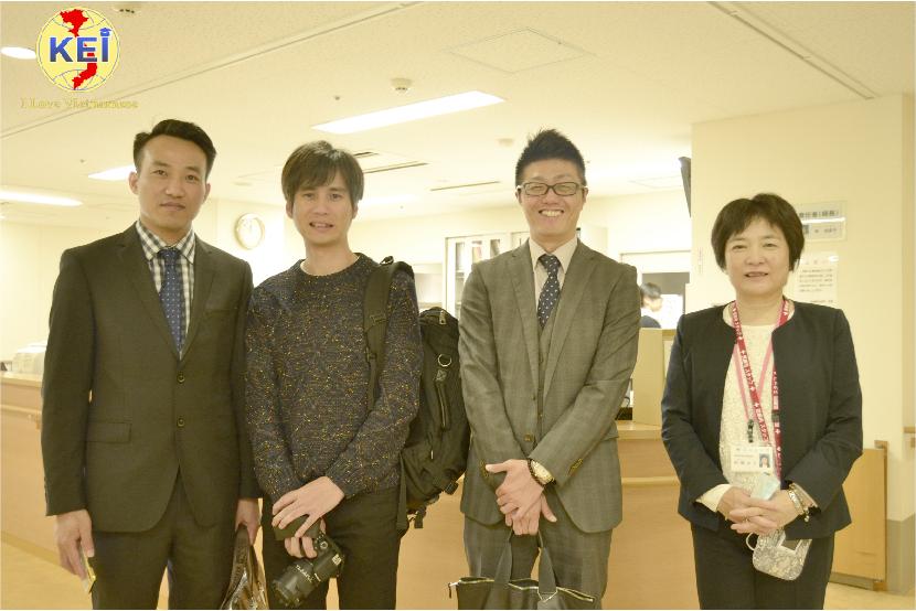 Giám đốc H2T Lê Thanh Tầm thăm bệnh viện điều dưỡng tại Osaka Nhật Bản.