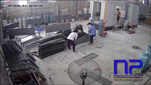 Hình ảnh phân xưởng sơn tĩnh điện