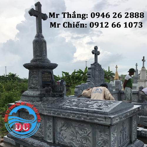 Mẫu mộ đá công giáo đẹp dành riêng cho người theo đạo Thiên Chúa