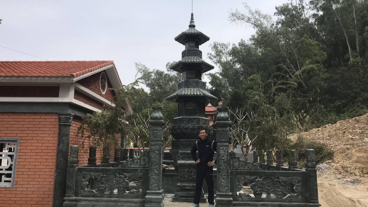 Khu tâm linh lăng mộ tháp của gia đình anh Tân tại nghĩa trang cựu viên Hải Phòng