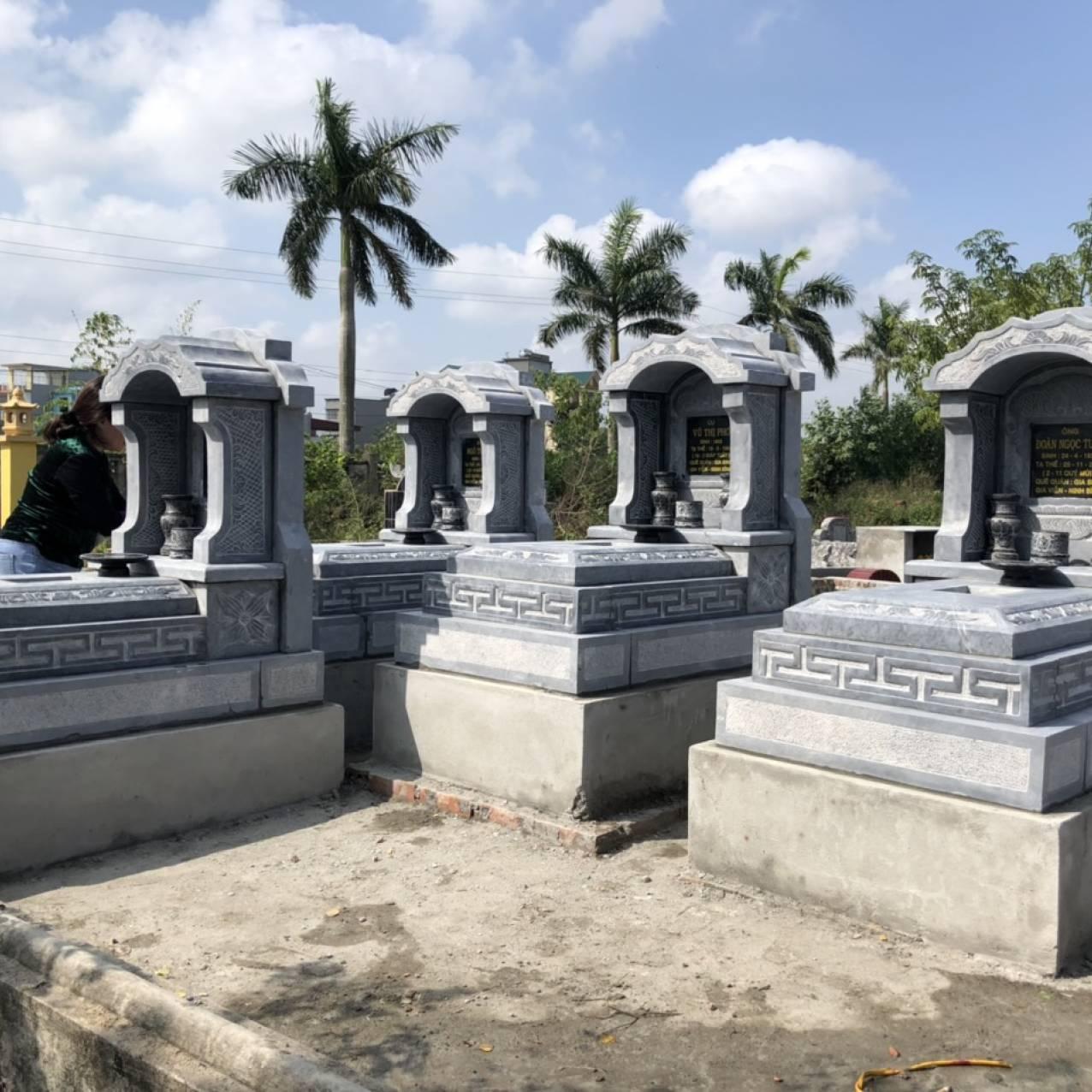 Mẫu mộ đá 1 mái cao cấp