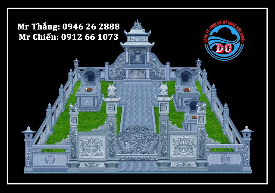 Mẫu thiết kế khu lăng mộ 3D