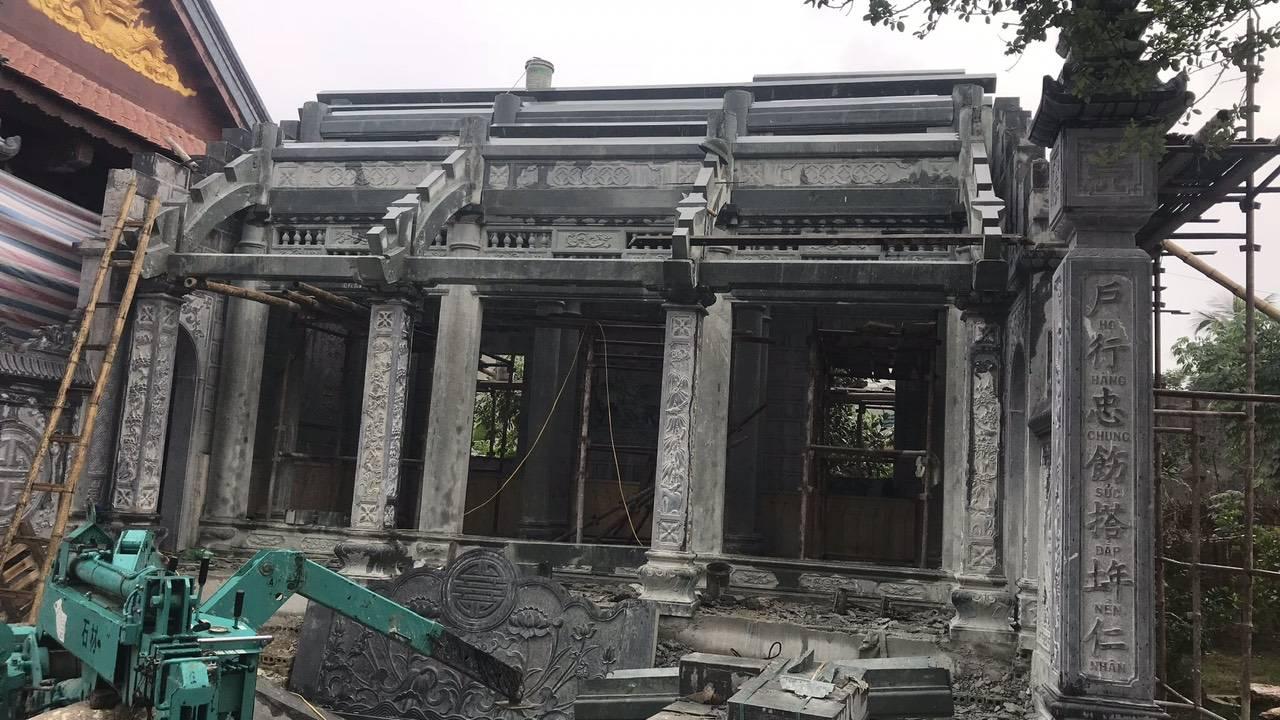 Công trình nhà thờ bằng đá nguyên khối cho gia đình Bác Nở tại Hoằng Hóa Thanh Hóa