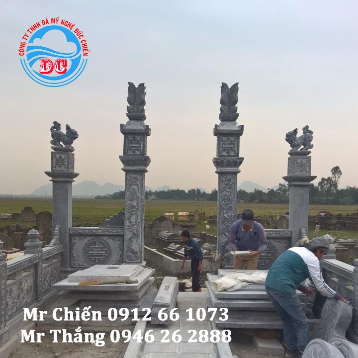 Mẫu cột đá vuông cho khu lăng mộ