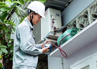 Fix the air conditioner to ensure safety for users