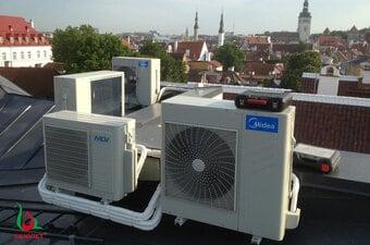 Bơm gas điều hòa Midea multi tại Hà nội 24/7 - Sửa điều hòa