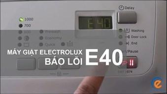 Chuyên sửa máy giặtElectrolux lỗi E40 ở nhà hà nội